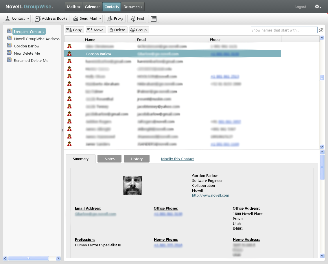 GordonBarlow.com • User Experience Designer • Novell